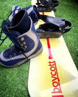 Snowboard vč. vázání + boty - DOBRÝ STAV